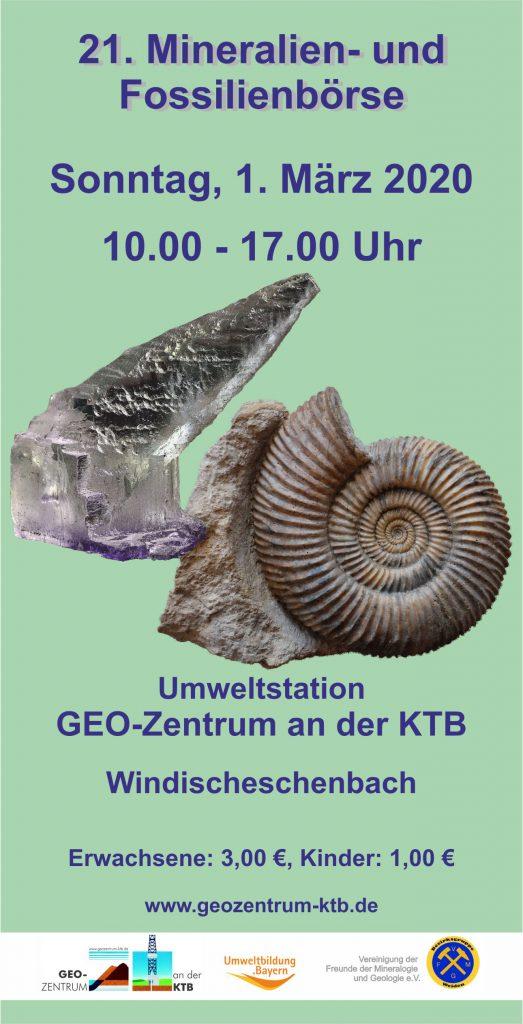 Plakat zur Mineralienbörse 2020